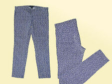 Damenjeans Hose Jeans Stretchjeans Leggings Röhre Gr. 40 blau / weiß v. H & M