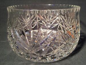 Very Large Heavy Cut Crystal Dish (ref W065)