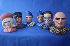BESWICK WARE THUNDERBIRDS CHARACTER BUSTS - FULL MATCHING SET + CERT