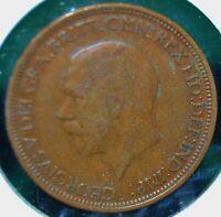 UK (Great Britain), 1931 Half Penny - Bronze - KM # 845