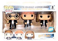 Funko Pop  Barnes Noble Harry Potter Ron Weasley Hermione Granger 3 Pack Set!