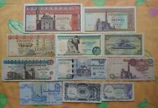 Egyptian Currency 5,10,25,50 Piastres & 1,10,20,100 Pounds (11 Notes) Lot # NS01