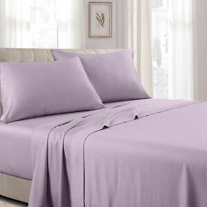 300 Thread Count Solid Sheet Set Combed Cotton Bed Sheet set- Deep Pocket