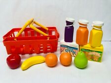 Fisher Price Fun with Food Basket, Play Food, Vintage 1980s Toys, 2105 Playset