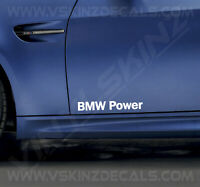 2x BMW Power Logo Door Decals Stickers Premium Quality 11 Colours Alpina M4 M3
