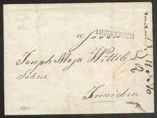 ÖSTERREICH 1822 VORPHILABRIEF von INNSBRUK nach IMMICHEN(D1067