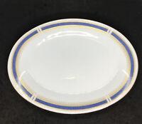 "Noritake ""BLUE DAWN"" (Coupe) 12"" Oval Serving Platter Japan"
