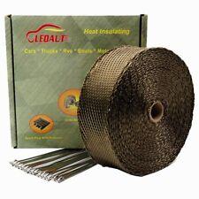 "LEDAUT 2""x 50' Twill Weave Motorcycle ATV Titanium Exhaust Heat Shield Wrap with"