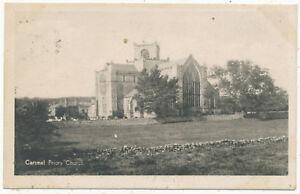 Cartmel Priory Church, 1917 postcard