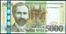 ARMENIA  5000   DRAM  2012  P 56  New   Uncirculated Notes