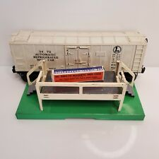 Vintage 1950 Lionel Trains 3472 Operating Milk Car & Platform White 3462P USA