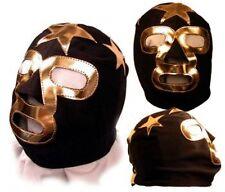 Kids Masked Superstar Black/Gold Pro Wrestling Mask WWE