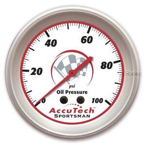 Oil Pressure Gauge Longacre Accutech Sportsman 46511 2-5/8 IMCA NHRA USRA 0-100