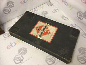 RARE VINTAGE MONOPOLY BOARD GAME. 1936. LONG BLACK BOX.