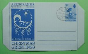 DR WHO 1973 GILBERT & ELLICE ISLANDS AEROGRAMME CHRISTMAS GREETINGS C242504