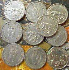 10 Coins LOT -1 Rupee - George VI 1947 Nickel – 11.8 g – ø 28 mm - British india