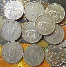 10 Coins LOT -1 Rupee - George VI 1947 Nickel – 11.8 g – ø 28 mm - British india