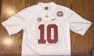 Mac Jones Jersey Alabama Crimson Tide White 2020 National Champions M Medium