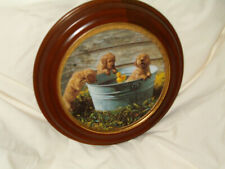 """Vintage Hamilton Collector Plates """"The Waters Fine A World of Puppy Adventures"""""""