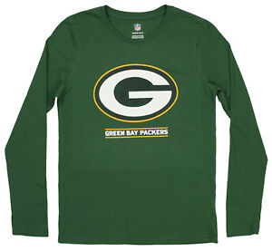 Outerstuff NFL Youth Green Bay Packers Long Sleeve Lift Off Logo Tee, Green