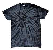 Black Tie Dye T-Shirts Adult S M L XL 2XL 3XL 4XL 5XL Cotton Colortone