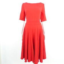 Barbara Noir Robe Taille 40 Rouge Femmes Tricot Robe Dress Robe délivré Midi