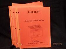 20 Repair Manuals: Wolf Ovens, Cooktops, BarBQ grills. Microwaves, ETC....