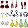 Acrylic Earings Banana Lily Cloud Lipstick Drop Dangle Earings Women Jewelry Hot