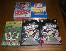 5 DIFFERENT HOCKEY CARD WAX BOXES - UPPER DECK - TOPPS - SCORE - OPC PREMIER