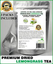 Lemongrass Tea 90 Bags 100% Natural Premium Caffeine Free Tea Resealable Pouch