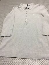 Woman's size Xs Benetton Light Grey Long sleeve polo shirt