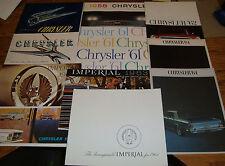 1951 - 1973 Chrysler Sales Brochure Lot of 24 56 58 61 62 63 64 65 66 67