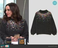 BNWT Zara Women Sweater with Coloured Sequins Rare Blogger Favorite 9667/103