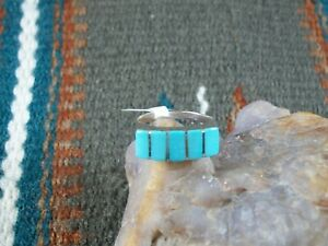 Turquoise Inlay Ring, size 7