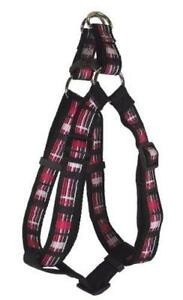 """Hamilton Adjustable Easy-On Harness Checkered Piccadilly Collection Small 12-20"""""""