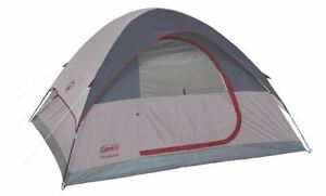 Coleman Highline 4-Person Dome Tent 9' x 7' Strong Frame Durable Fabric Stands