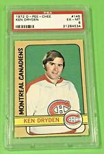 1972-73 O-Pee-Chee Ken Dryden Second Year Card #145 PSA 6 Montreal Canadiens