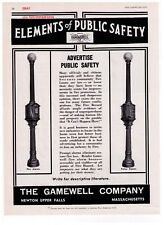 """1937 Gamewell Co. """"Elements of Public Safety"""" Fire & Police Print Advertisement"""