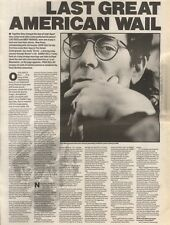 5/5/90Pgn10/11 Article & Picture(s) last Great American Wail Lou Reed On Andy Wa