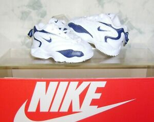 Vtg DS NIKE Baby Shoes Size 2 C White/Blue Uptempo Reggie Miller FAST SHIPPING!