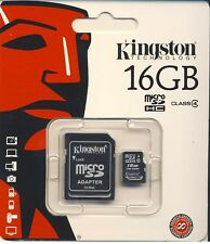 16 Go Kingston Micro SD SDHC Samsung Carte mémoire MicroSD TF mobile phone class 4