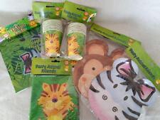 Selva Safari Animal Fiesta Vajilla MESA 16 platos, 16 Tazas, 20 servilletas,