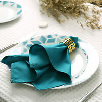 Napkins Table Linen Dinner Cloth Poly Cotton Hotel Wedding 6 & 12 Pack 38 x 38cm