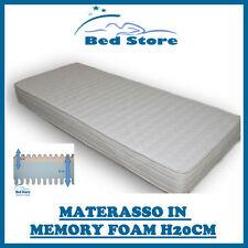 MATERASSO IN MEMORY FOAM H20 80X190 CM ANALLERGICO ECONOMICO