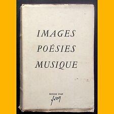 IMAGES POÉSIE MUSIQUE N°161/1000 Éditions d'Art Yvon 1945