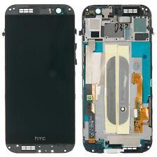 HTC ONE M8 Display LCD Touchscreen Digitizer Glas Anzeige inkl. Rahmen, titan