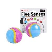 Ruff N Tumble Five Senses Beef Scented Rubber Toy Ball Dogs Pets Stimulation