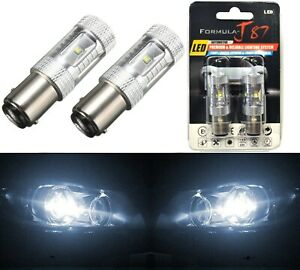 LED Light 30W 1157 White 5000K Two Bulbs Front Turn Signal Replacement Stock Fit