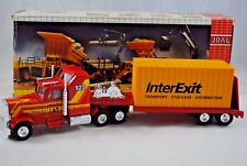 JOAL 1:50 Ref.176 KENWORTH Truck & Low-Loader Trailer w/ InterExit CONTAINER MIB