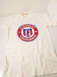 Vintage USCF 1989 Ziggurat California Small Tshirt District 50 Fruit of the Loom